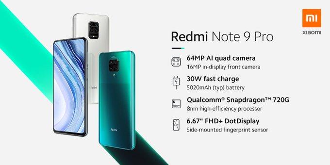 Redmi Note 9 Pro Specification