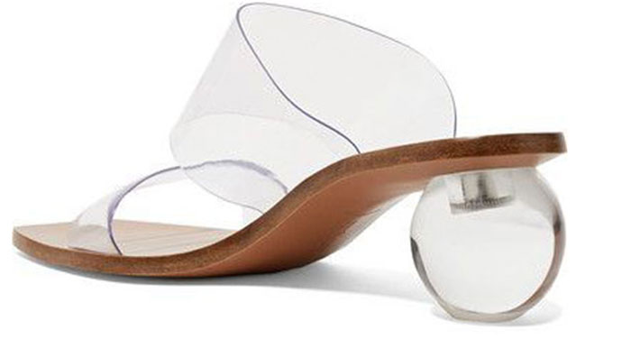 Transparent elements fashion women's summer shoes