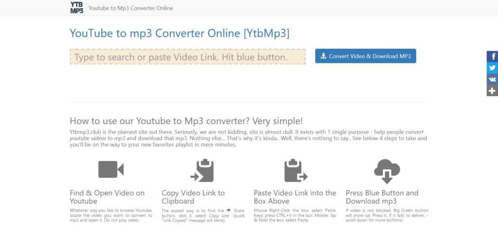 YTBmp3 YouTube to MP3 converter