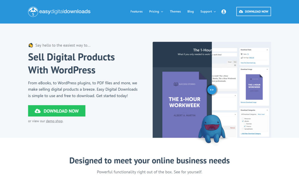 Easy Digital Downloads eCommerce Platform