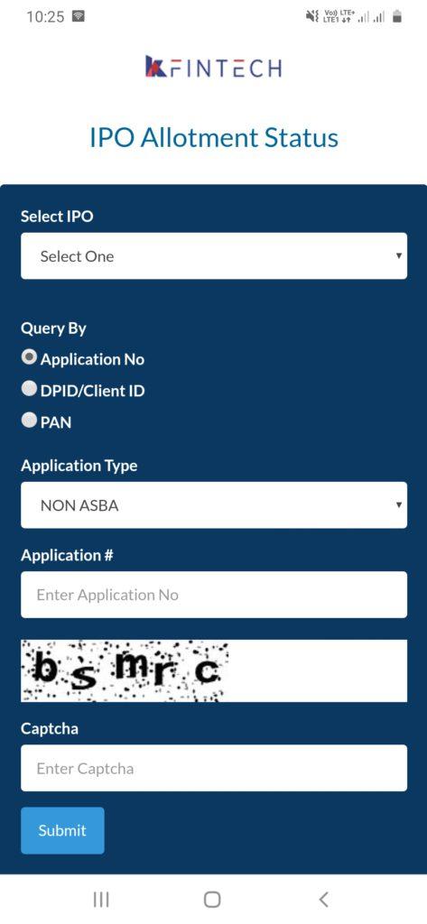 Happiest Minds Allotment Check on Registrar KFin Technologies Website