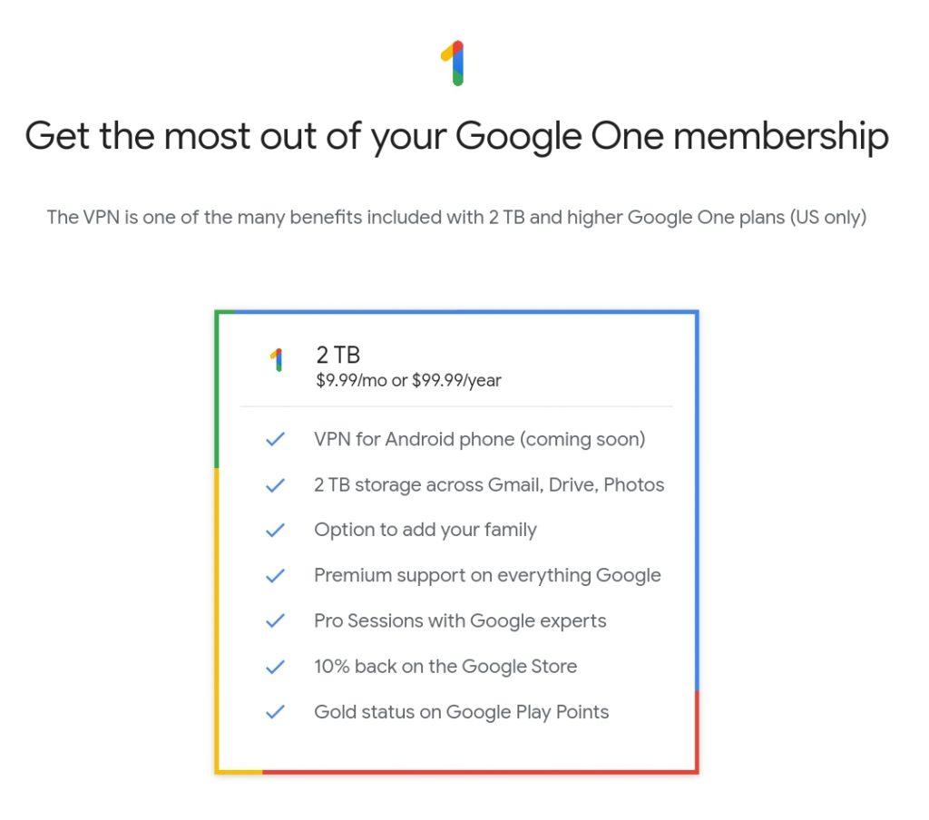 Google VPN Pricing Plans