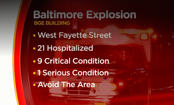 Explosion at BGE offices in downtown Baltimore
