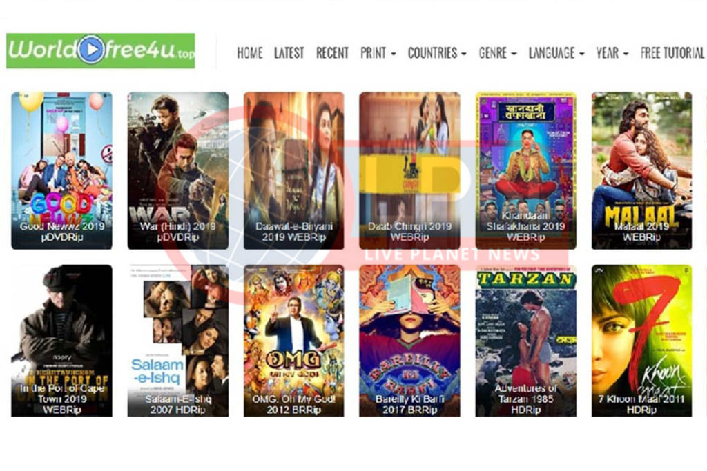 Worldfree4u Movies Download Torrent Website